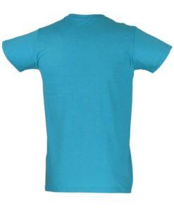 T-shirt azul traseira