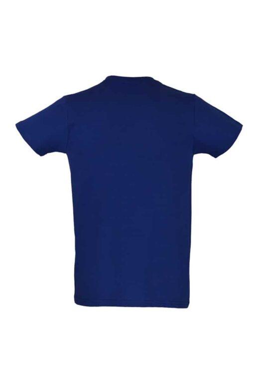 T-shirt azul Real traseira
