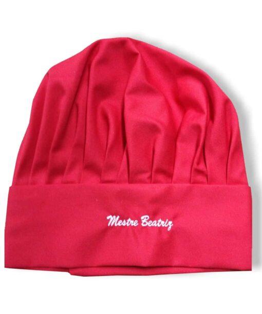 Chapéu de chefe de cozinha vermelho