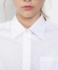 Camisa manga comprida Senhora Branca colarinho