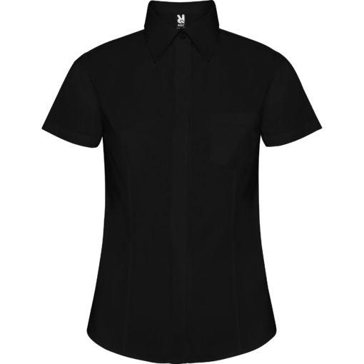 Camisa manga curta Senhora Preta frente