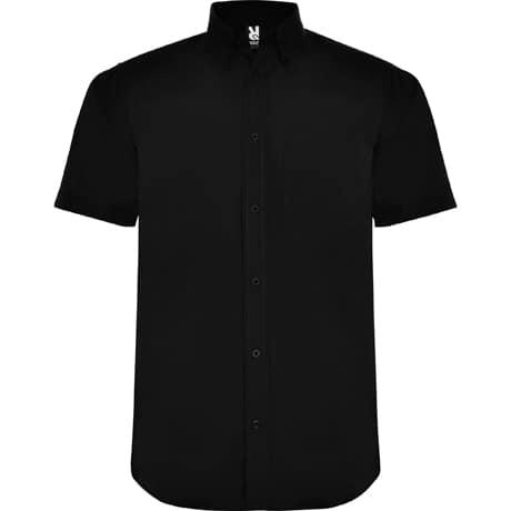 Camisa manga curta Homem Preta frente