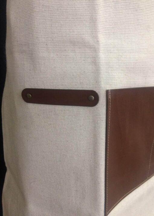 Avental pormenor suporte para panos e bolsos
