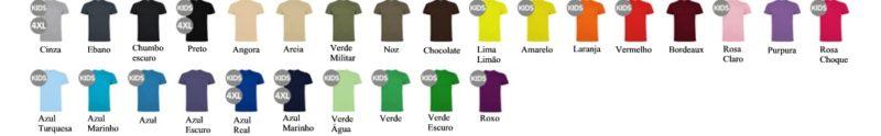 Tabela de cores T-Shirts Dogo Premium