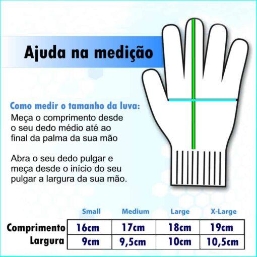 Verificar o tamanho das mãos