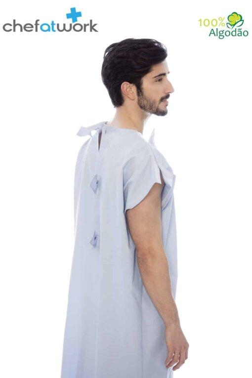 Classic Patient Gown Blue Back