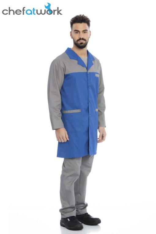 Bata de homem1589 azul cinza