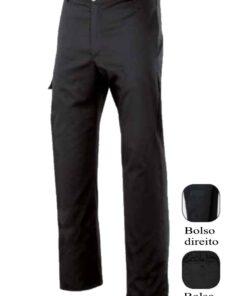 Calças hotelaria multibolsos pretas