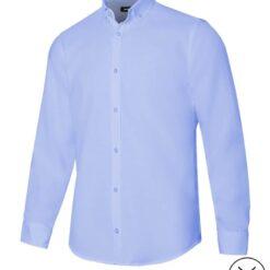 Camisa homem stretch restauração azul