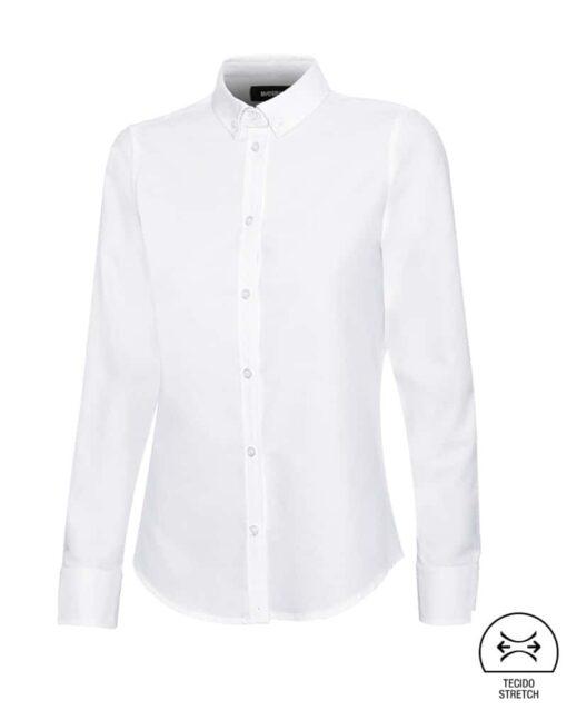 Camisa senhora stretch restauração branca