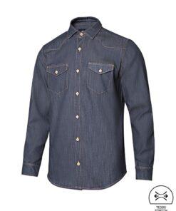 Camisa de ganga para homem