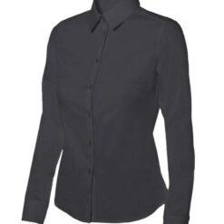 Camisa mulher stretch hoteleria preta