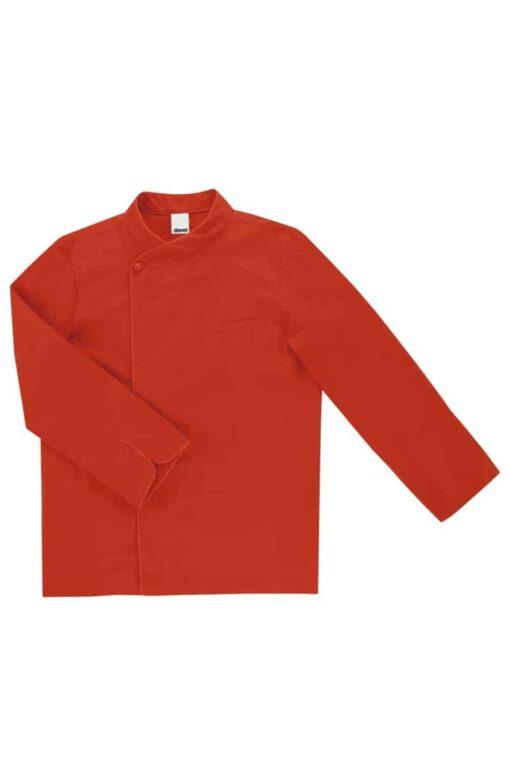 Casaco cozinheiro manga comprida Vermelha