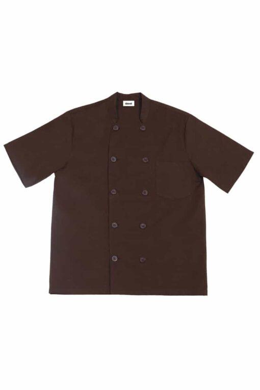 Camisa cozinheiro manga curta Castanha