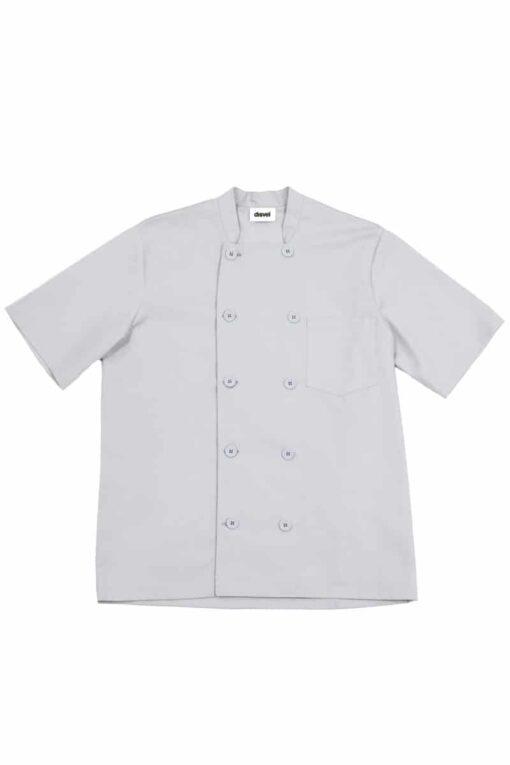 Camisa cozinheiro manga curta Cinza