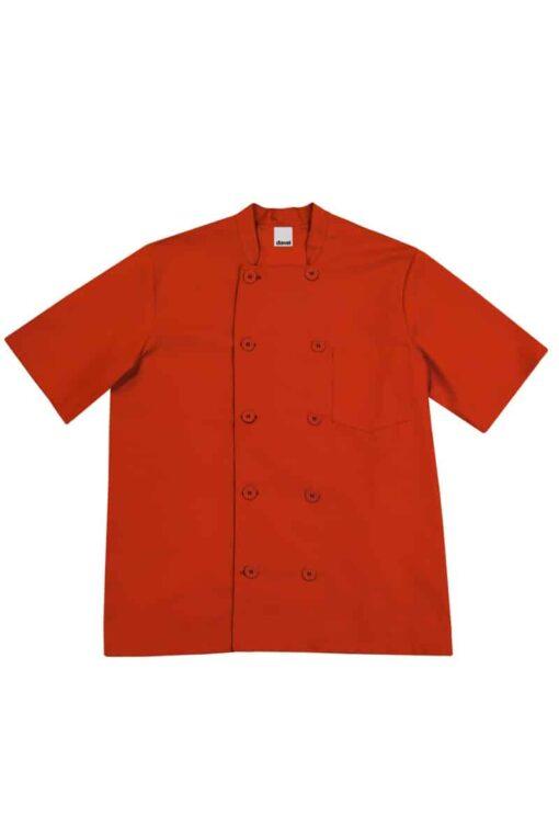 Camisa cozinheiro manga curta Vermelha