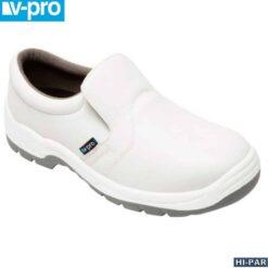 Sapato Branco Z450A com biqueira de aço