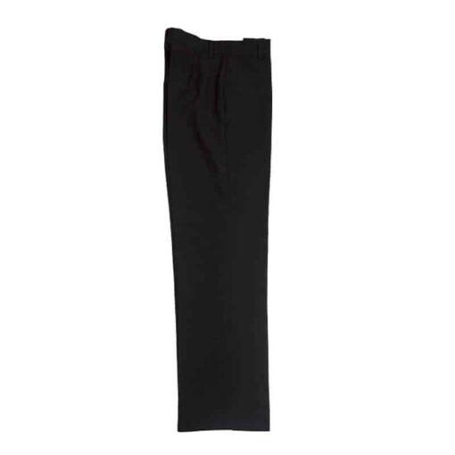 Calças de senhora elásticas pretas lateral