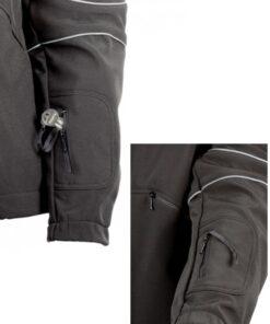 Casaco moncayo Preto bolso na manga
