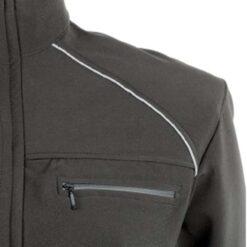 Casaco moncayo Preto bolso no peito