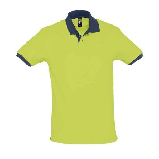 Polo Prince Verde Azul Marinho