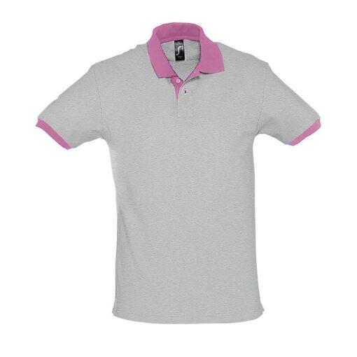 Polo Prince cinza-rosa